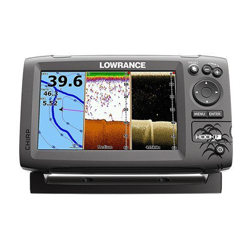 Lowrance Gancho 7 De Base Não Xdcr Barco Náutico Fishfinder Pescador