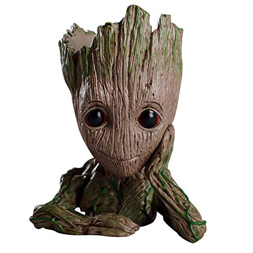 Treeman Baby Groot Flowerpot, Creative Guardians of The Galaxy Groot Planter Pen Container with Hole Action Figures Model Desk Ornament Gift Toy Christmas Gift TreeMan – A