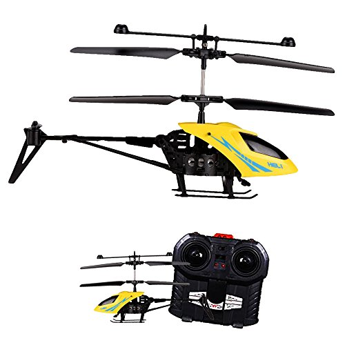 Toy Cubby Electronic Mini RC Helicopter 3.5 Channel Radio Remote Control Aircraft – Yellow