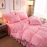 LIFEREVO Luxury Shaggy Plush Duvet Cover 1 PC