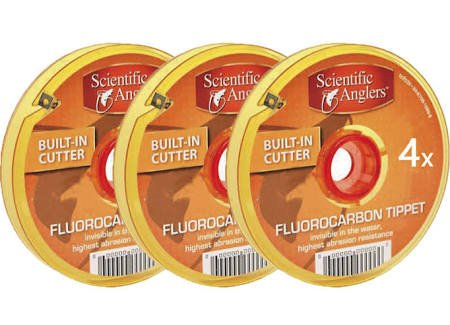 Scientific Anglers Fluorocarbonティペット – 3パック B06XX36BWP   0x, 1x, 2x