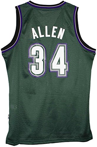 Adidas Men's Milwaukee Bucks NBA Ray Allen Swingman Jersey Green Medium Ray Allen Authentic Jersey