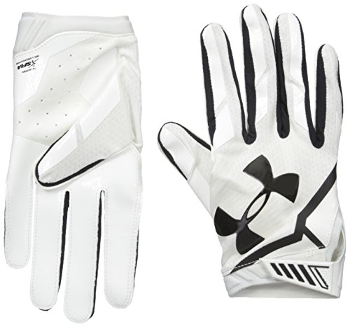 Under Armour Men's Sizzle Football Gloves, White/White, Large