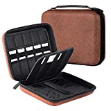 USB Flash Drive Case, Hard Drive Case EVA Waterproof Shockproof Bag/Electronic Cable Accessories Organizer, by Wellgain - Brown