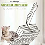 Bigmai Useful Cat Pooper Scoopers Cat Litter Sand Shovel Pet Shit Artifact Dogs Waste Stainless Steel Metal Shovel Cleaning Scoop Tool