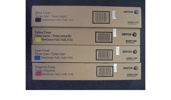 7428 7435 OEM Set of 2 Xerox 006R01398 High Yield Cyan Toner Cartridge 7425