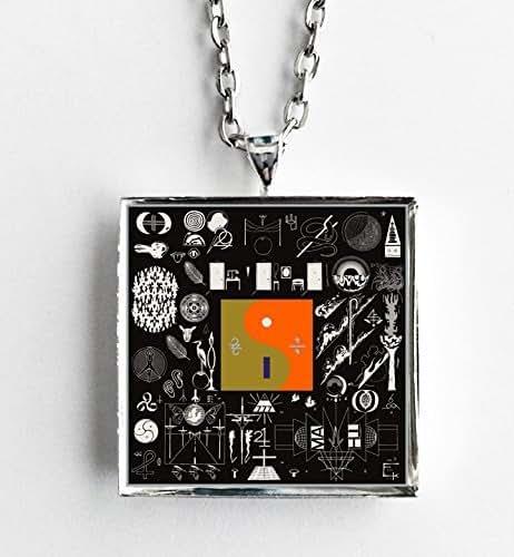album cover art necklace bon iver 22 a million handmade. Black Bedroom Furniture Sets. Home Design Ideas