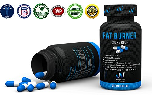 FAT BURNER SUPERIOR Weight Loss Supplements Garcinia Cambogia BioPerine Blend Thermogenic Fat Burners Without Crash Vegan, Non GMO, Veggie Diet Pills For Men & Women – 120 Capsules
