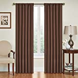 Eclipse Kendall Blackout Thermal Curtain Panel,Chocolate,84-Inch