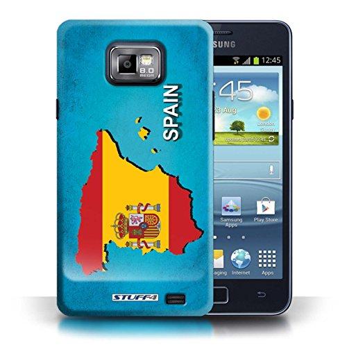 Kobalt® Imprimé Etui / Coque pour Samsung Galaxy S2/SII / Espagne/Espagnol conception / Série Drapeau Pays