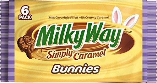 MILKY WAY Easter Simply Caramel Singles Size Candy Bar Bunny 1.1-Ounce Bar 6-Count Pack (Pack of -