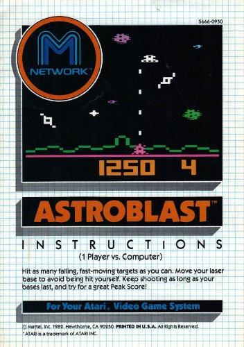 Astroblast Atari 2600 Instruction Booklet (Manual Only - NO GAME) (Atari Video Game Manual)