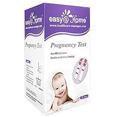 Easy@Home 25 Pregnancy (HCG) Urine Test Strips, 25 HCG Tests