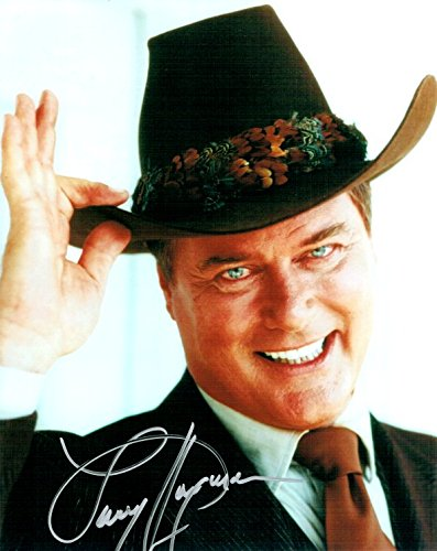 Larry Hagman Hand Signed Autographed 8x10 Photo Dallas Tipping Hat W/ COA by Cardboard Legends Online