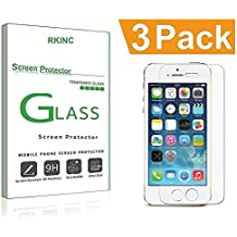 iPhone 7 6S 6 Screen Protector Glass, RKINC iPhone 7 Tempered Glass Screen Protector For Apple iPhone 7 [3D Touch Compatible] , iPhone 6S, iPhone 6 2016, 2015 (3-Pack)