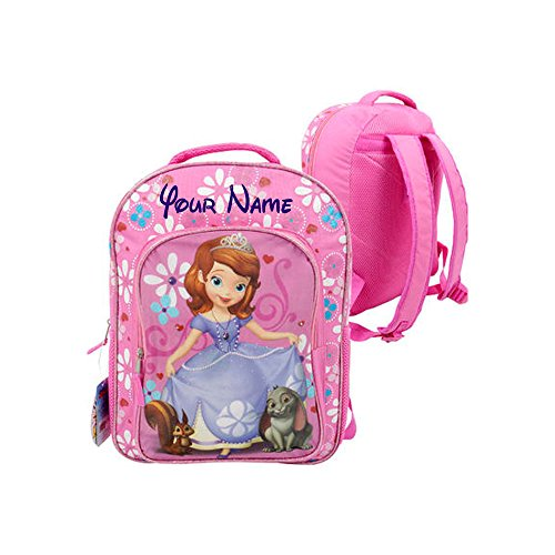 Personalized Disney Sofia the First Princess Pink Light Up with Super Lights Backpack Book Bag - 16 Inches