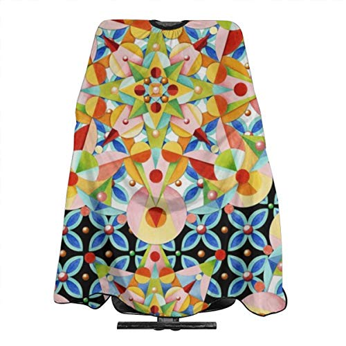 - Elizabethan Pastel Mandala Haircut Hairdressing Cape Cloth Apron Hair Styling Hairdresser Cape Family Barber Salon