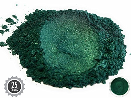 Eye Candy Pearls 25gr Dark Ocean Green Mica Powder Pigments (Resin, Paint, Epoxy, Soaps, Nail Polish, Liquid Wraps) by Eye Candy Pearls