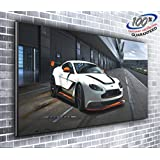 Aston Martin Vantage GT3 Supercar Panoramic Canvas Print XXL Picture 50 inch x 20 inch Over 4 foot wide x 1.5 foot high Ready to Hang Stunning Quality by Canvas35 Ltd.
