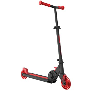 Mondo Scooter patinete neon vector, color rojo