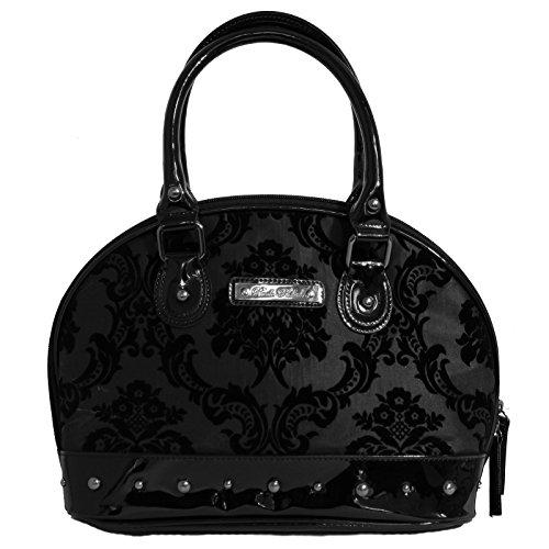 Rock Rebel Damask Margaux Handbag Deep Black