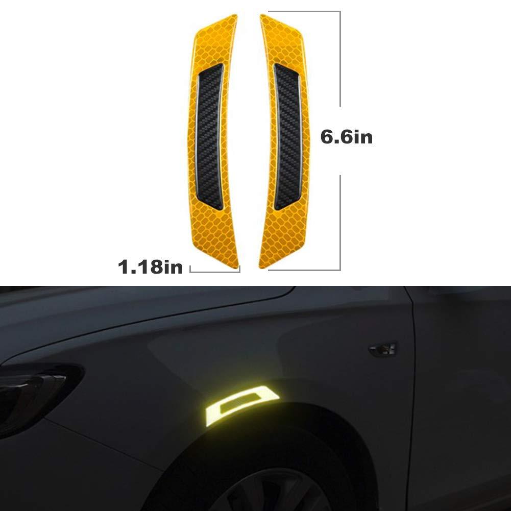 4PC Carbon Fiber Car Side Front+Back Door Edge Protection Guards Trims Stickers