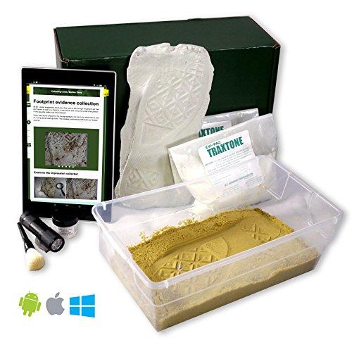 Crime Scene Forensic Science Kit, Footprint Casting Activity Pack by Crime Scene