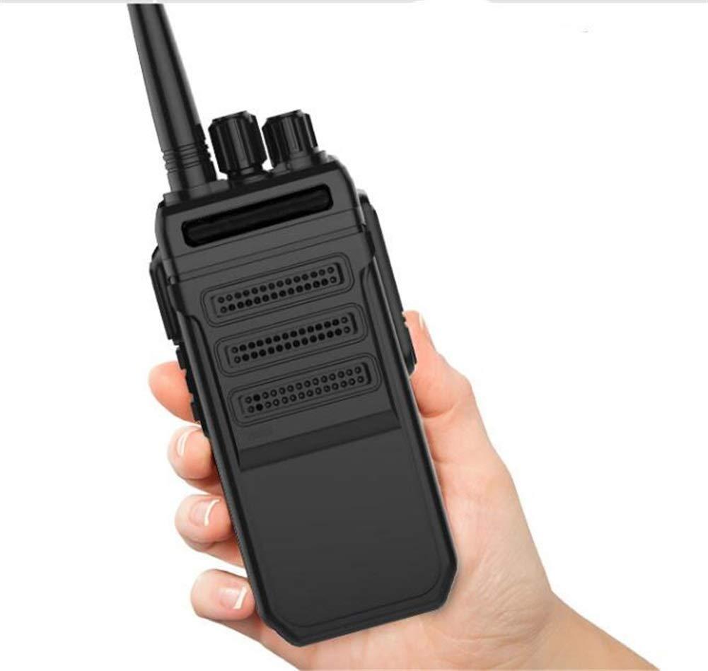 Walkie Talkies, High Power Outdoor Long Standby 10 Km Handheld Property Engineering Walkie (Black, 1 Pair)