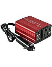 FOVAL 150W Car Power Inverter 12V DC to 110V AC Converter with 3.1A Dual USB Car Charger