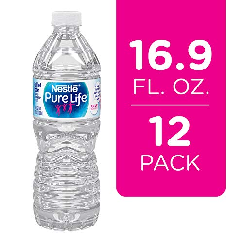 Nestle Pure Life Purified Water, 16.9 fl oz. Plastic Bottles (12 count) (Best Bottled Water Review)