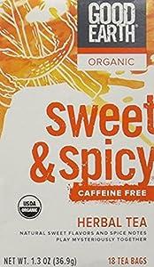 Good Earth Teas Organic Sweet and Spicy Caffeine Free Herbal 18 Tea Bags by Good Earth