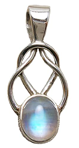 Moonstone Celtic Love Knot Pendant Sterling Silver