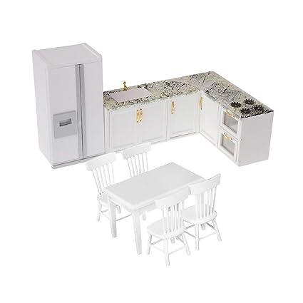 Miniature Wood Fridge Furniture for 1//12 Dolls House Kitchen Accessory Decor
