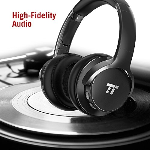 51eYYeZaPUL - TaoTronics Active Noise Cancelling Bluetooth Headphones HiFi Stereo Wireless Over Ear Deep Bass Headset w/cVc Noise Canceling Microphone 30 Hour Playtime Comfortable Earpads for Travel Work TV