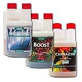 CANNA Canna Boost, Cannazym, Rhizotonic Plant Additives Hydroponic Nutrient Bundle (1 Liter)