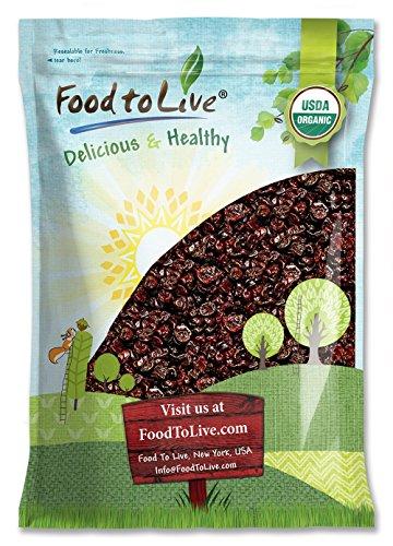 Organic Montmorency Dried Tart Cherries, 5 Pounds - Lightly Sweetened, Pitted, Non-GMO, Kosher, Unsulfured, Sour, Bulk