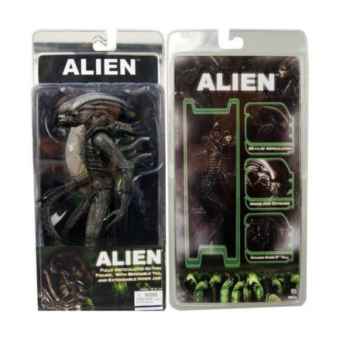 [ALIENS OFFICIAL 1979 MOVIE CLASSIC ORIGINAL ALIEN PVC ACTION FIGURE] (Ezio Costume Black Edition)
