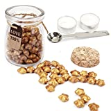 gold seal wax - Gold Sealing Wax Beads, Yoption Approximately 120 Pieces Lucky Star Shape Wax Seal Beads with 1 Piece Wax Melting Spoon and 2 Pieces Candles for Wax Seal Stamp (Gold)
