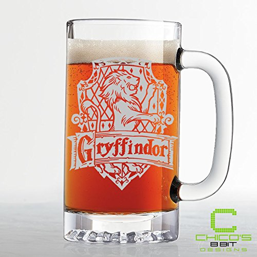Harry Potter - Gryffindor House Crest Beer Mug - Etched