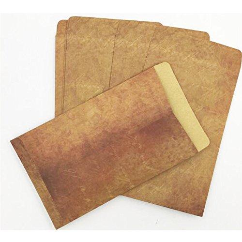 QingLanJian Vintage Kraft Paper Writing Paper with Envelopes Stationary Sets-32 Sheets and 16 Envelopes by QingLanJian (Image #2)