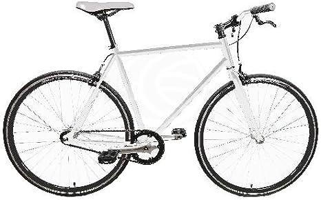 Bicicleta fixie blanca talla M para altura 160-175cm: Amazon.es ...