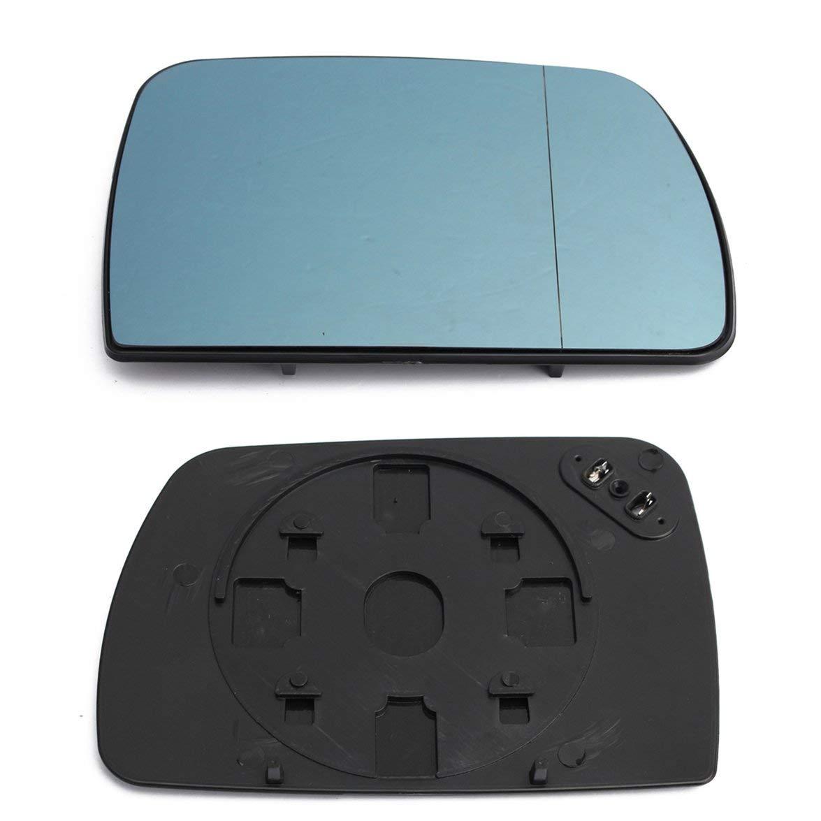 Kongqiabona Grand Miroir en Verre chauff/é Bleu r/étroviseur pour BMW X5 E53 00-06