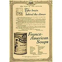 1917 Ad Franco American Soups Mock Turtle Varieties - Original Print Ad