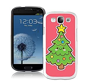 2014 New Style Smiled Face Green Christmas Tree White TPU Samsung Galaxy S3 Case,Case For Samsung I9300