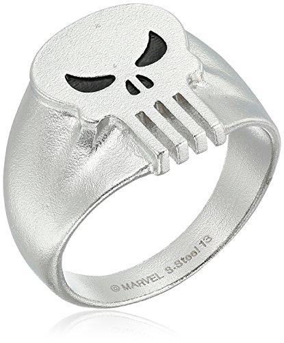 Marvel Comics Punisher Skull Stainless Steel Men's Ring, ...