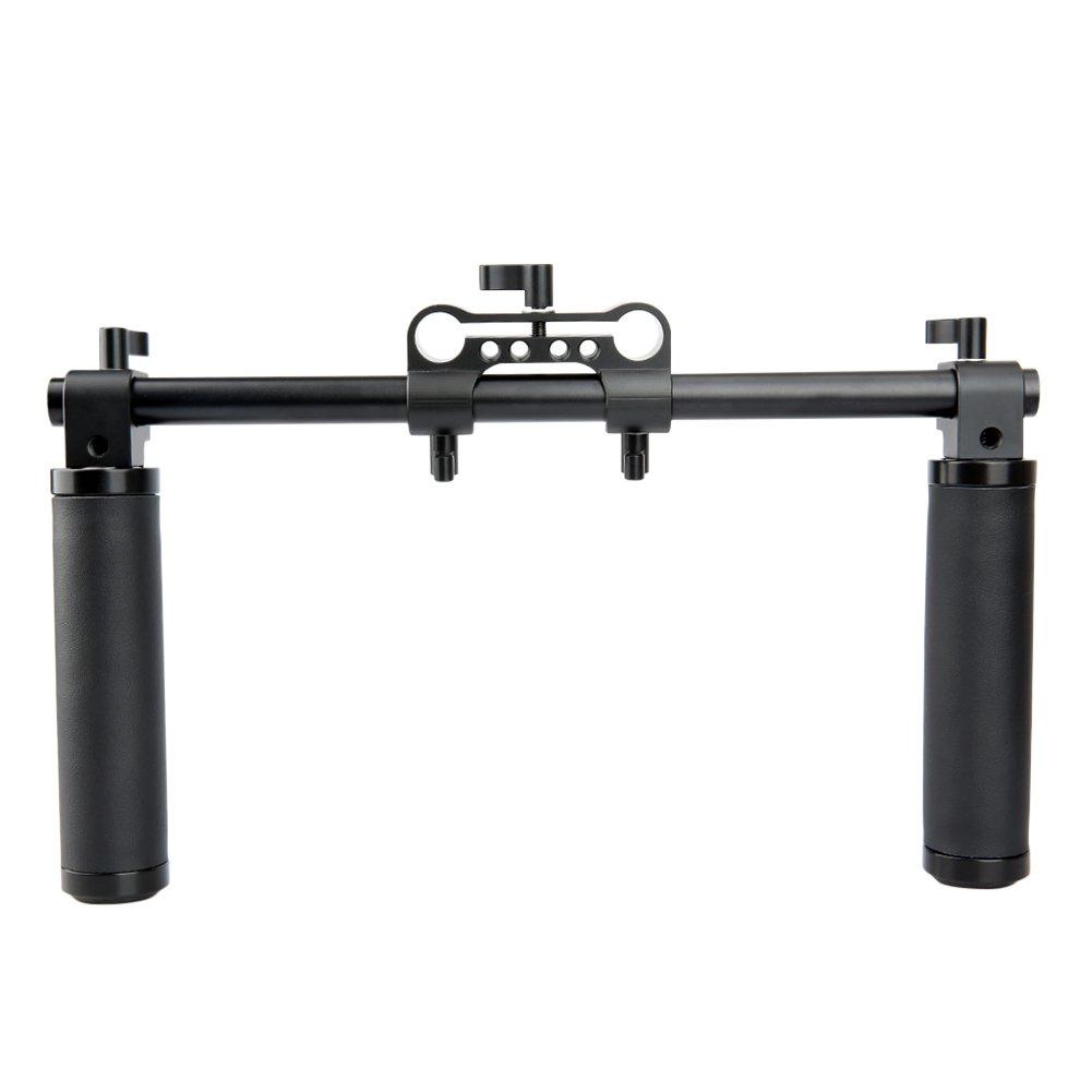 NICEYRIG Camera Handle Kit with 15mm Rod Clamp 30cm long rod for Camera DSLR Shoulder Rig Support System