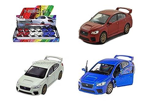 Amazon Welly Display 2015 Subaru Wrx Sti 475 3pcs 43693d