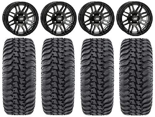 "Bundle - 9 Items: ITP SS316 14"" Wheels Black Ops 28"" Regulator Tires [4x115 Bolt Pattern 10mmx1.25 Lug Kit]"