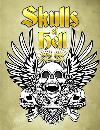 Skulls of Hell - Coloring Book: Heavy Metal Coat of Arms - Gothic Horror for Adults