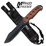 Cheap Master Cutlery MX-8098W 12″ Fixed Blade Knife, 5 mm Thickness Lacquer Over Brown Wood Handle Sheath
